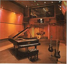Trident Studios London showing Interior from the Studio and the famous Bechstein Piano.