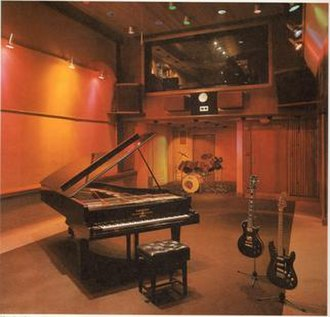 Trident Studios - Trident Studios interior circa 1975 from the Studio and the famous Bechstein Piano