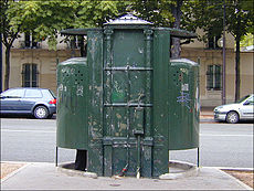 The last surviving vespasienne, on the boulevard Arago in Paris