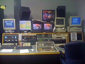 Transmission control room - WREX-TV's master control desk in the TCR