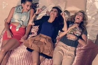 With Ur Love - Lloyd laughing with some friends in the music video.