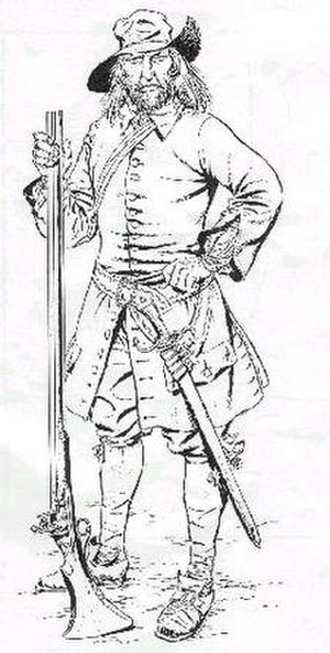 George Woodbridge - George Woodbridge's drawing of a Bacon's Rebellion soldier in 1675