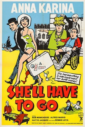 She'll Have to Go - Original British 1-sheet poster