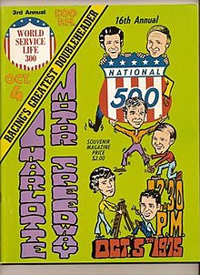 This is the official race program from the 1975 running of the National 500 (now Bank of America 500).