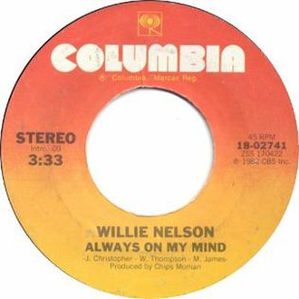 Always on My Mind - Image: Always on My Mind by Willie Nelson US vinyl