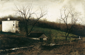 Evening at Kuerners - Image: Andrew Wyeth Evening at Kuerners