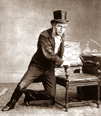 The Magistrate (play) - Arthur Cecil as Mr Posket in the original 1885 production