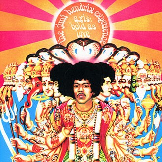 Jimi Hendrix - The cover of Axis: Bold as Love
