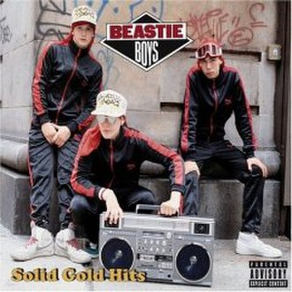 Boombox - The Beastie Boys Solid Gold Hits album cover with a JVC RC-M90