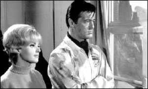 Blue Light (TV series) - Christine Carère as Suzanne Duchard and Robert Goulet as David March in Blue Light.