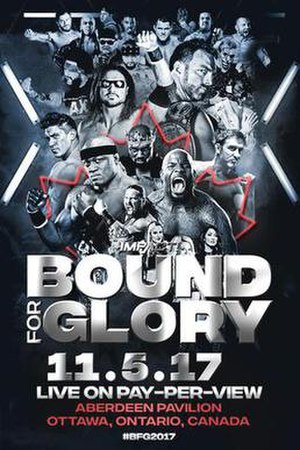 Bound for Glory (2017) - Promotional poster featuring various Impact wrestlers