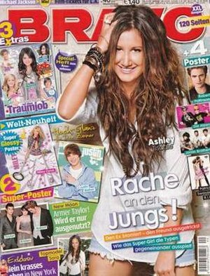 Bravo (magazine) - Ashley Tisdale on the cover.