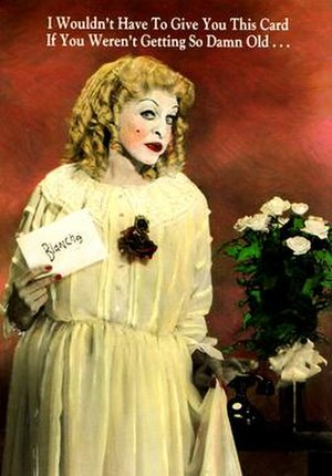 Charles Pierce (female impersonator) - Charles Pierce as Baby Jane Hudson from 1987 greeting card series