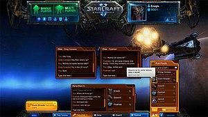 Battle.net - Chat System interface on the revamped Battle.net 2.0