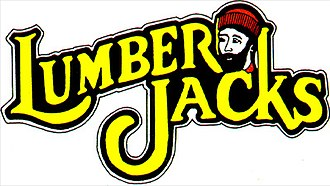 Cleveland Lumberjacks - The original Lumberjacks logo from 1992 to 1995