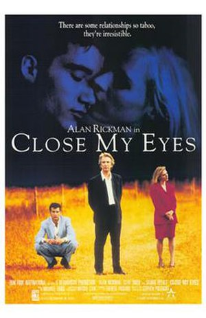 Close My Eyes (film) - Promotional movie poster for the film