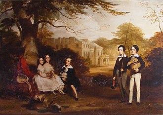 Daniel Macnee - Janet Hamilton Campbell Conversation Pictures - Children of Colin Campbell of Colgrain and Camis Eskan by Daniel Macnee, 1845