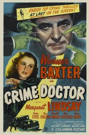 Crime Doctor (film) - theatrical poster