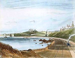 Dublin and Kingstown Railway - Image: D&KR view 1840