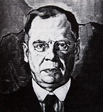 D. C. Boonzaier - Portrait by Moses Kottler, 1918.