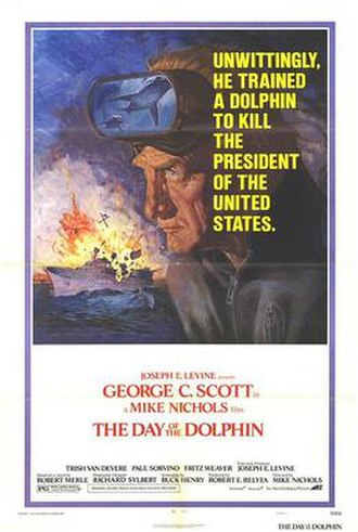 The Day of the Dolphin - Theatrical release film poster by Tom Jung