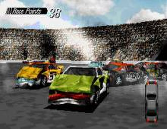 Destruction Derby - The player engages in a Destruction Derby contest at The Bowl.