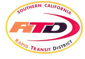 Southern California Rapid Transit District - SCRTD logo from 1964 to 1980