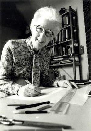 Dorothy K. Burnham - Dorothy K. Burnham at a drafting table
