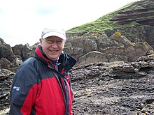 Dr Stuart Monro at Siccar Point.JPG
