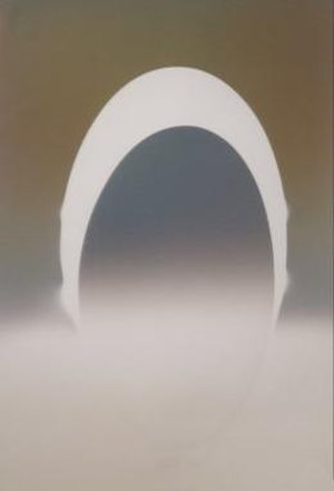 Larry Bell (artist) -  ELIN 71, 1982, vapor drawing, Honolulu Museum of Art