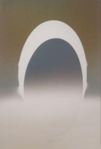 Larry Bell (artist) -  ELIN 71, 1982, vapor drawing, Honolulu Museum of Art