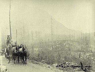 Eagle Pass (British Columbia) - Wagon road at the summit of Eagle Pass, c. 1885