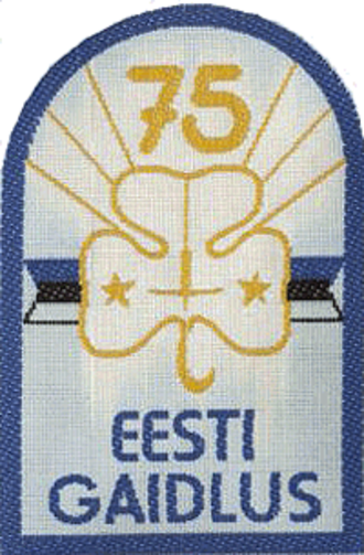 Eesti Gaidide Liit - Anniversary badge of Estonian Girl Guides