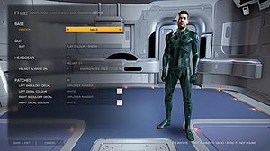 Elite: Dangerous - An example of a character on the Holo-me page in Elite: Dangerous