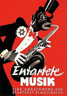 Degenerate music perjorative term for some music, used by Nazis