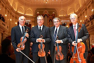 Fine Arts Quartet chamber music ensemble founded in Chicago, United States in 1946 by Leonard Sorkin and George Sopkin