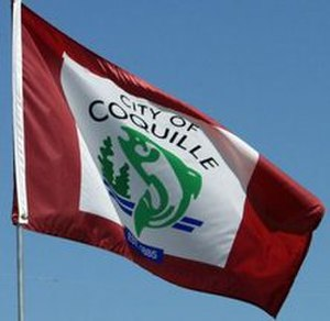 Coquille, Oregon - Image: Flag of Coquille, Oregon