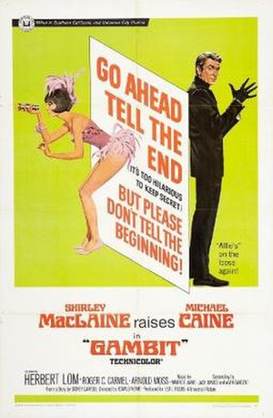 Gambit (1966 film) - original film poster
