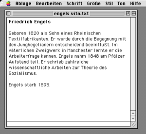SimpleText - Image: German Simple Text