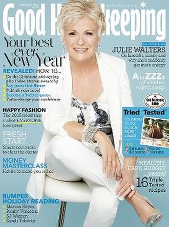 Good Housekeeping - January 2015 cover featuring Julie Walters