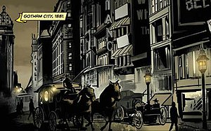 Gotham City - Gotham City in 1881 from Batman: Gates of Gotham (April 2011). Art by Trevor McCarthy.