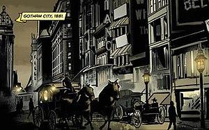 Gotham City - Gotham City in 1881 from Batman: Gates of Gotham (April 2011). Art by Trevor McCarthy.