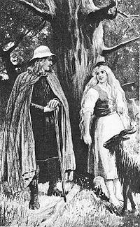 Halga seducing his own daughter Yrsa , by Jenny Nyström (1895).