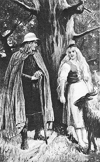Hrólfr Kraki - Hrólf's parents Halga and Yrsa, by Jenny Nyström (1895).