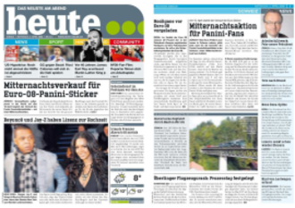 Heute (newspaper) - Image: Heute Screenshot
