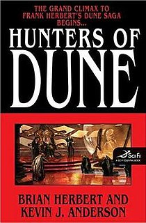 <i>Hunters of Dune</i> novel by Brian Herbert and Kevin J. Anderson