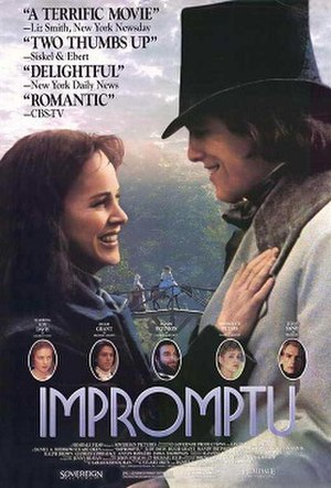 Impromptu (1991 film) - Theatrical release poster