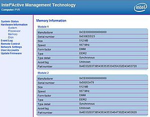 Intel Active Management Technology - A part of the Intel AMT web management interface, accessible even when the computer is sleeping