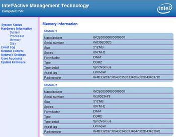Intel AMT web page available even when the com...