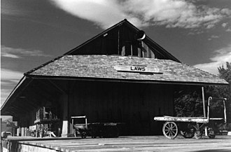Laws, California - Laws station in 1998.